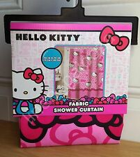 NEW Hello Kitty Pink Fabric Shower Curtain 72x70 Target