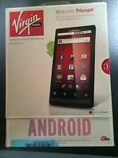 Motorola Triumph Virgin Mobile Smart Phone Cell Phone Latest Model  NEW