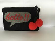Mango's Funky Ladies Black Meduim- Sized Signature Theme Clutch Bag/Purse