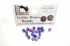 Gritty Brass Beads Ø 3,8mm Hareline 20 ST esibisce OTTONE beads Rainbow Grit