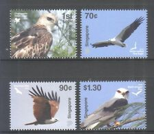 SINGAPORE 2016 BIRDS OF PREY COMP. SET OF 4 STAMPS IN MINT MNH UNUSED CONDITION