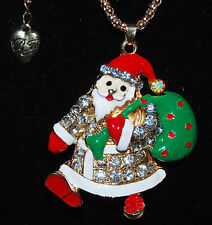 BETSEY JOHNSON GORGEOUS SANTA CLAUS NECKLACE LONG CHAIN