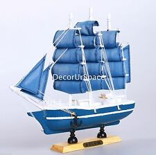 "9"" WOODEN Sailing Boat Home Decoration SAILBOAT Table Nautical decor Collection"