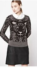 Women's French Connection FCUK Tiger Sweater Top Glitter Sz M NWT 118$