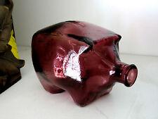SCANDINAVIAN PURPLE TINTED GLASS PIGGY BANK - ART GLASS - COLLECTIBLE