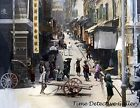 A Street Scene in Hong Kong, China - 1895 - Historic Photo Print