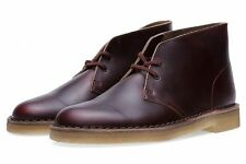 Clarks Original ** X DESERT  BOOTS ** BURGUNDY HORWEEN LEATHER **  UK 5.5F
