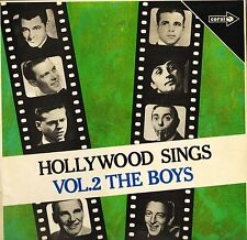HOLLYWOOD SINGS VOL 2: THE BOYS mickey rooney/robert mitchum/etc LP PS VG/EX