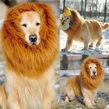 1X Large Pet Dog Lion Mane Wig Hair Halloween Costume Fancy Dress Chrismas Gift
