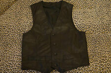 MEN'S REAL GENUINE LEATHER VEST, WAISTCOAT, GILET, SIZE 48, M