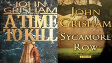 "Lot of 2 John Grisham""Jake Brigance""Hardcover Series- A Time 2 Kill,Sycamore Row"