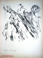 1934 J.H. DOWD 'Important People' Print - 'Rock Chasing'