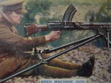 Bren Machine Gun Godfrey Phillips Advertising Cigarette Card VTG