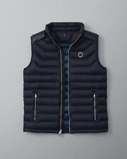 NWT 2016 Abercrombie & Fitch A & F Lightweight Down Puffer Vest Jacket Navy M
