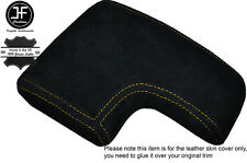 YELLOW STITCH ARMREST LID SUEDE COVER FITS ALFA ROMEO 159 & BRERA 2005-2011