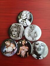 "1.25"" Madonna pin back button set of 6"