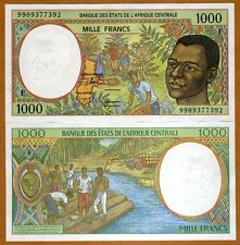 Central African Republic, States, 1000 Francs, 1999, P-302Ff, UNC