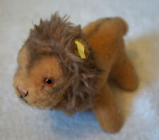 "7"" STEIFF PLUSH LION w/ Tag and Ear Made in Germany Tiger Cub Doll Nice Leo 2"