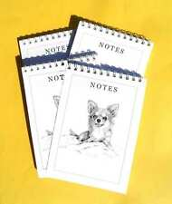 Chihuahua Long Coat Pack of 4, A6 Dog Note Pads Gift Set