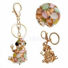 Lovely Frog Cute Charm Pendant Rhinestone Crystal Key Ring Keychains Accessories
