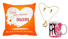 meSleep Love forever Mom Mother's Day Cushion Cover & Mug Combo with Free Set
