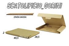 30PZ SCATOLA CARTONE 40,5x28 ,5x2 FUSTELLATA ASTUCCIO  SPEDIZIONE BAULETTO
