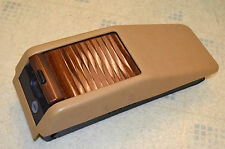 MERCEDES W124 E320 CENTER CONSOLE BOX, TAN, ZEBRANO WOOD FITS 300E 300TE 300CE