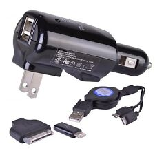 Halo Pocket Power 9-in-1 Dual USB to AC/DC Adapter w/Retractable Dual Micro USB