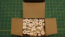 1 Gross Size G Bobbins Barbobs D-69 Sided White Polyester UV Thread Outdoor #22C