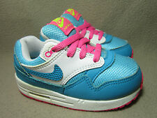 NIKE AIR MAX 1 INFANTS Girls' Teal/White Casual Trainers UK Size 6.5/EU 23.5