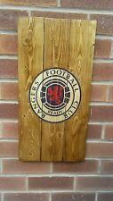 Glasgow Rangers  sign wooden wall art , plaque , badge rustic mancave