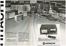 PUBLICITE  1971   HITACHI  hi-fi téléviseurs ampli  (2 pages)