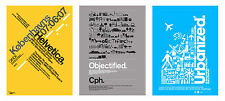 HELVETICA / URBANIZED / OBJECTIFIED 3 X art posters from Gary Hustwit's trilogy