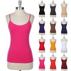 Women's Layering Cotton Basic Camisole Spaghetti Tank Top Plain Solid S M L