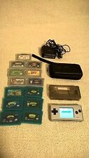 Gameboy Micro Silver and 13 Games