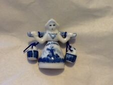 Solvang Woman With Yoke And Water Cramic Magnet Dutch Mint