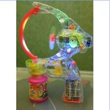 GIANT BUBBLES BUBBLE GUN WITH LED FLASHING LIGHTS 2 X BUBBLE SOLUTION W