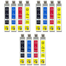 12 Ink Cartridges for Epson Stylus D92 DX5000 DX7450 BX300F SX100 SX218 SX610FW