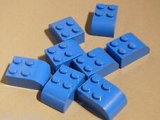Lego 8 briques arrondies bleues set 4708 4099 9696 4981 / 8 blue brick curved