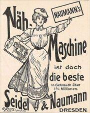 Dresda Pubblicità 1903 macchina cucire Seidel & Naumann la pubblicità advertising