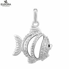16mm Crystal Fish Cage Locket Angel Caller Chime Harmony Ball Women Jewelry