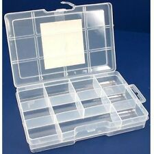 SE 8721BB Parts Box with lock 11 compartments 7.5 in. x 5 in. x 1.5 in.