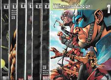 THE ULTIMATES 2 #1-#13 & ANNUAL #1 SET, PLUS VARIANT #1 SKETCH COVER (NM-)
