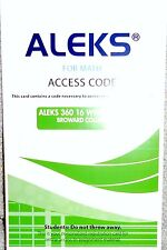 Aleks 360 For Math Student Access Code 16 Weeks Green for Broward College