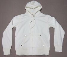 TRUE RELIGION MENS WHITE UNWASHED BIG T ZIP UP HOODIE JACKET SIZE XL X LARGE NEW