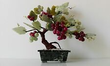 Old plant with vase and grapes in various quality jade