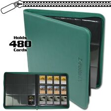 BCW Teal Zipper Z-Folio LX Binder Album 12 Pocket Pages Card Storage