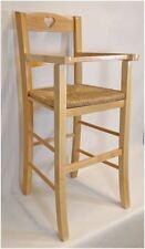 Sediolone per bimbi con braccioli in legno seduta paglia col.naturale ristoranti