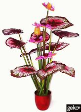 Artificial Plant XL EXTRA LARGE 120cm Lotus Plant Tree Bush Pink Flowers #N0013