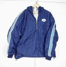 Vintage Adidas 90s reversible Jacket Size L Navy Blue Pullover Windbreaker